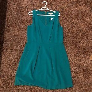 NWT Loft Sleeveless Teal Zip up Dress